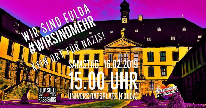 Wir sind Fulda #wirsindmehr Kein Ort für Nazis!