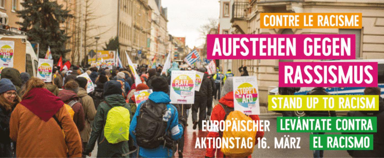 #MarchAgainstRacism – Internationaler Aktionstag gegen Rassismus am 16. März 2019