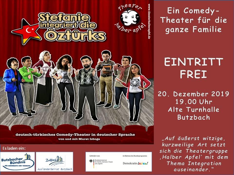 """Comedy-Theater """"Stefanie integriert die Öztürks"""" am 20.12.2019"""