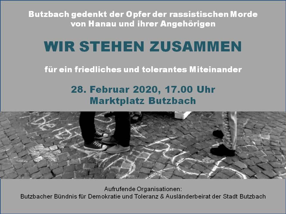 Wir gedenken der Opfer aus Hanau und ihren Angehörigen